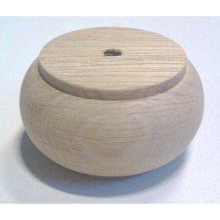 Bútorláb fa szekrényláb pogácsa tölgy átm.  80x45 mm MF esztergált HU+