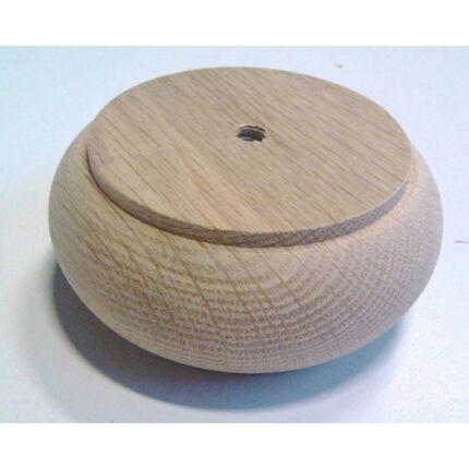 Bútorláb fa szekrényláb pogácsa tölgy átm. 100x45 mm MF esztergált HU+