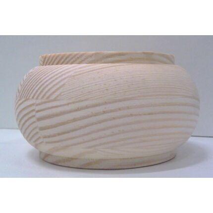 Bútorláb fa szekrényláb pogácsa erdeifenyő átm.  80x45 mm MF HU+ esztergált borovi