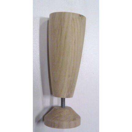 Bútorláb fa szekrényláb kehely tölgy átm. 47x125-150 mm állítható  esztergált MF