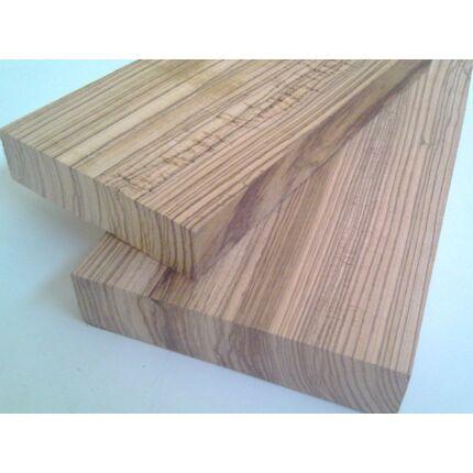 Zebránó fa fűrészáru hobbyfa 52 mm 1000 mm alatt OF. Szárított zebrafa
