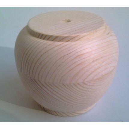 Bútorláb fa szekrényláb hordó borovi fenyő átm. 80x70 mm esztergált MF HU+