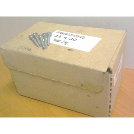 Szeg zsindelyszeg horganyzott 3,5x30 mm  2 kg/doboz Kb. 15 m2/kg