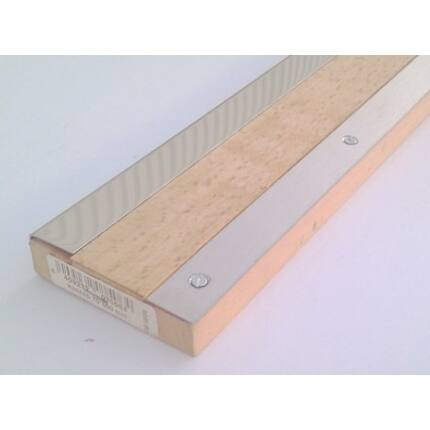 Küszöbsín rozsdamentes acél  860 mm hosszú 20 mm széles 2 db/ csomag + csavarok (fehér)