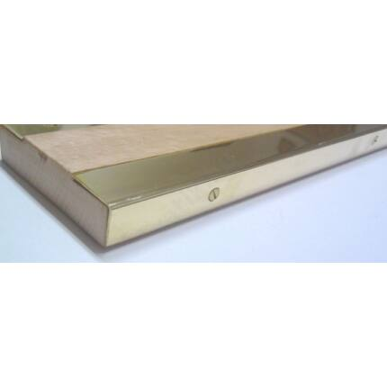 Küszöbsín réz hajlított  860 mm hosszú 20 mm széles 2 db/csomag  + csavarok (fehér)
