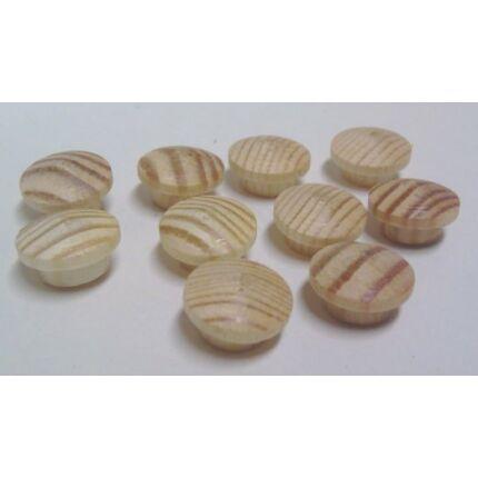 Csavartakaró gomb  borovi fenyő átm.  8 mm 10 db / csomag furattakaró