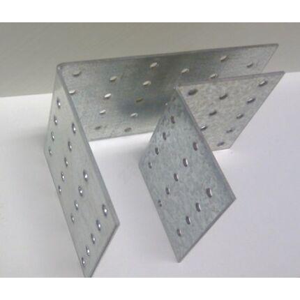 Hajlított perforált acél lemez 80x96x 96x2 mm csomóponti horganyzott sarokvas  HU+