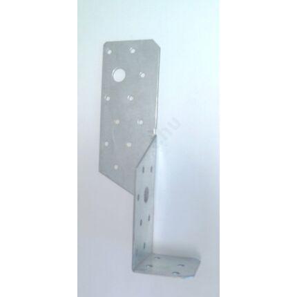 Perforált acél lemez gerenda rögzítő 55x55x200 mm jobbos 90 fokos kötésekhez talppapucs