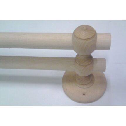 Függönytartó bükkfa átm. 35 mm kar két rúdhoz HEF HU+