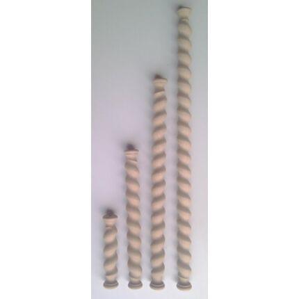 Koloniál oszlop tölgyfa átm. 45x1000 mm balos bútor díszítő oszlop HEF