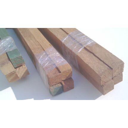 Iroko fa fűrészáru hobbyfa 15x15x1000 mm 4 db / csomag
