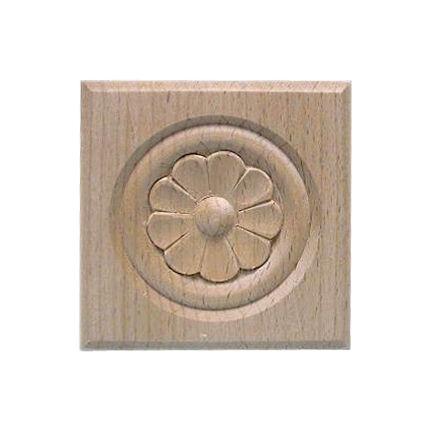 Faragott fa dísz MLD H 077-10 ( 100x100 mm ) bükkfa rozetta