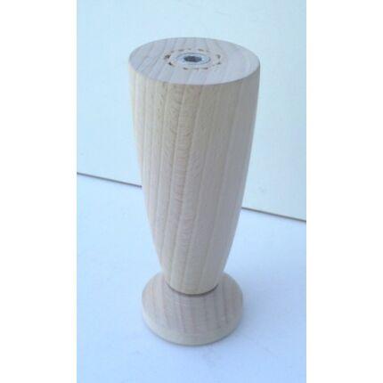 Bútorláb fa szekrényláb kehely bükk átm. 47x115-125 mm állítható esztergált MF HU+