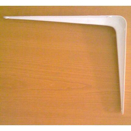 Polctartó konzol fém fehér 200x250 mm kb. 10 kg  terhelés karonként