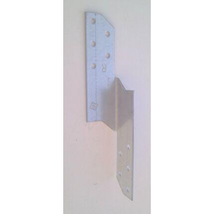 Perforált acél lemez gerenda rögzítő 35x35x170 mm jobbos 90 fokos kötésekhez csomóponti lemez