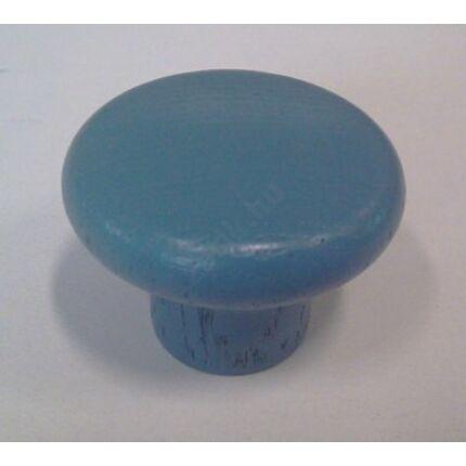 Bútorgomb  bükkfa átm. 38x29 mm kék színű M4-es