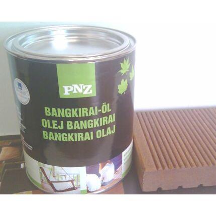 Faápoló keményolaj kültéri  UV álló színtelen 0,75 L 25-30 m2 / liter BANGKIRAI OLAJ PNZ