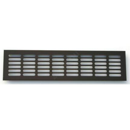 Szellőzőrács ajtóra aluminium 100x400 mm bronz színű