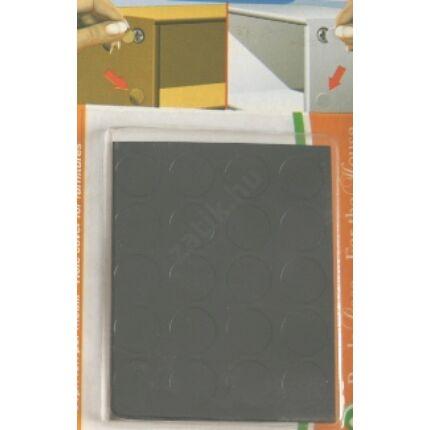 Csavartakaró öntapadós fólia fekete átmérő 13 mm korong 20 db / levél