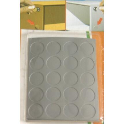 Csavartakaró öntapadós fólia szürke átmérő 13 mm korong 20 db / levél