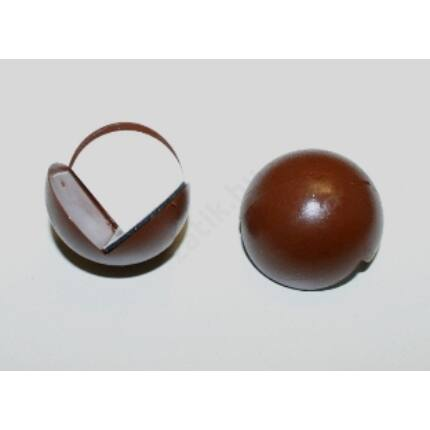 Sarokvédő műanyag gömb átm. 26 mm barna színű 2 db/csomag