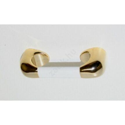 Bútorfogantyú műanyag  64 mm arany fehér szín