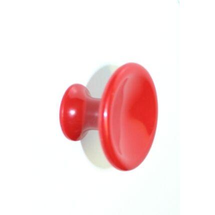 Bútorgomb műanyag átm. 40x26 mm piros színű