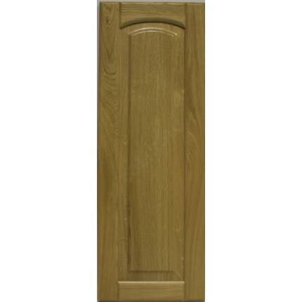 Bútorajtó tölgyfa C 926x327 mm  betétes íves tele lakkozott felületű