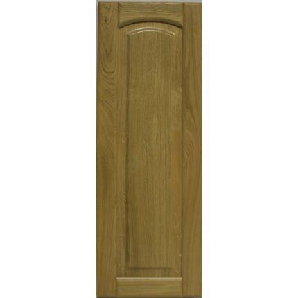 Bútorajtó tölgyfa C 926x497 mm  betétes íves tele lakkozott felületű