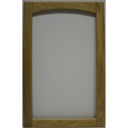 Bútorajtó tölgyfa C 926x597 mm  üvegezhető íves lakkozott felületű