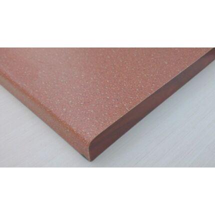Bútorfiók dekorfóliás vörös színű 126x390 mm kétoldalt kerekítve