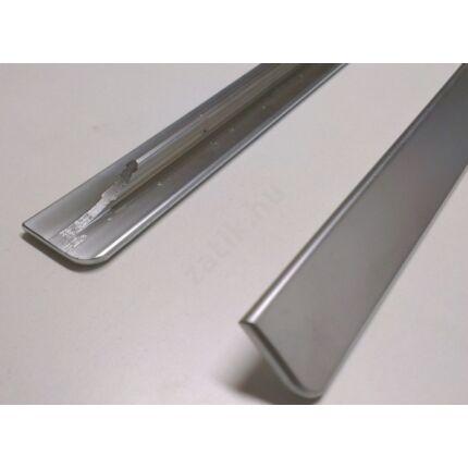 Élzáró műanyag élléc ezüst színű 390x22 mm  dekorfóliás bútorajtókhoz kerekített oldalúhoz