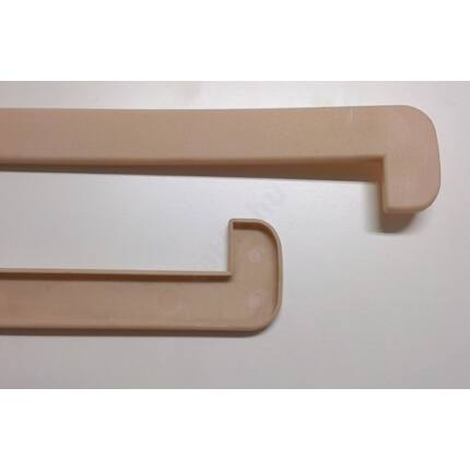 Ablakpárkány  oldal élzáró műanyag bézs színű 2 végre / egy szál