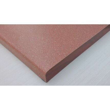 Bútorfiók dekorfóliás vörös színű 126x290 mm kétoldalt kerekítve
