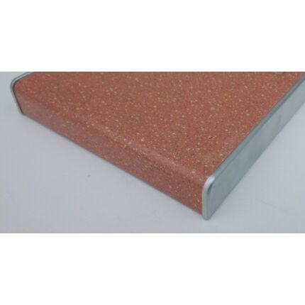 Élzáró műanyag élléc ezüst színű 440x22 mm  dekorfóliás bútorajtókhoz kerekített oldalúhoz