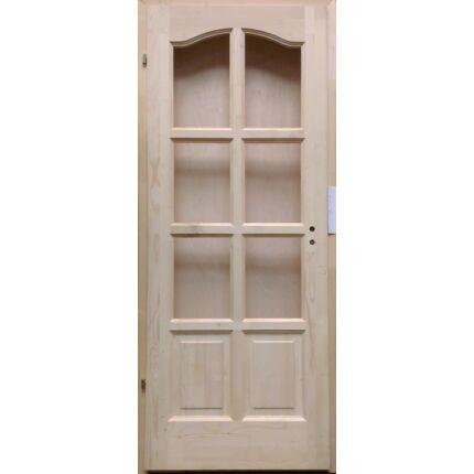 Beltéri ajtó lucfenyő 8 kazettás íves  90x210 FÜ jobbos pallótokos 2.sz. MAS