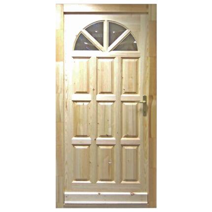 Bejárati ajtó borovi fenyő 100x210 cm ROMA napsugaras normál zár jobbos  MI HU+