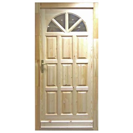 Bejárati ajtó borovi fenyő 100x210 cm ROMA napsugaras biztonsági zár balos  MI HU+