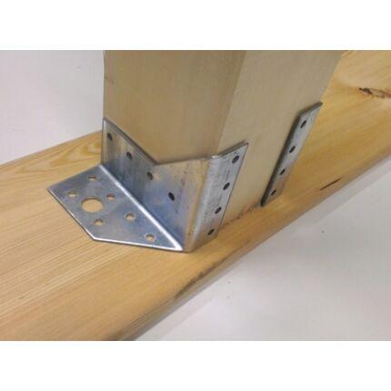 Perforált acél lemez gerendapapucs pár 25x85 mm A típus csomóponti lemez