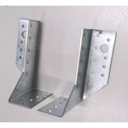 Perforált acél lemez gerendapapucs pár 40x120 mm A típus csomóponti lemez