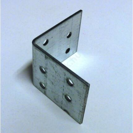 Hajlított perforált acél lemez 40x48x48x2 mm csomóponti horganyzott sarokvas HU+