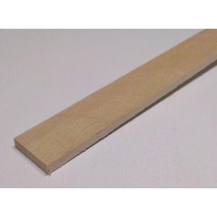 Gyalult négyszögléc bükkfa gőzölt  5x20x1000-1100 mm keményfa léc HU+