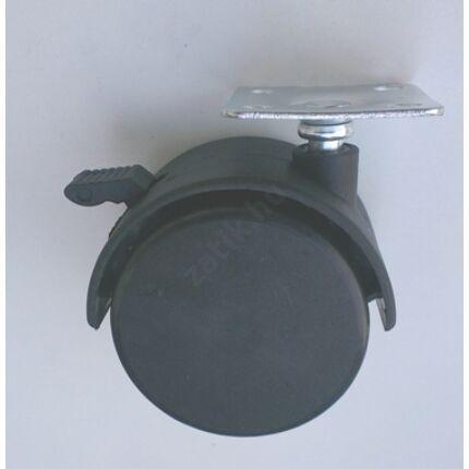 Bútorgörgő fotelgörgő átm. 50 mm talpas fékezhető fekete