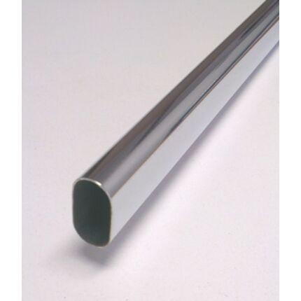 Vállfatartó rúd  fémből 1400 mm krómozott ovális 15x30 mm mándlirúd