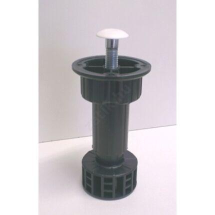 Bútorláb konyhai szekrényláb 85-120 mm között állítható fekete műanyag