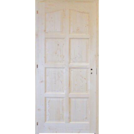 Beltéri ajtó lucfenyő 8 kazettás íves 100x210 cm tele balos 6. sz