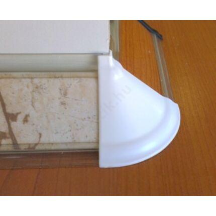 Konyhai munkalap    vízzáró profil  fehér szín külső sarok dekor betétes profilhoz