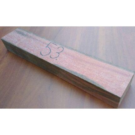 Indiai rózsafa hobby fa  45x74x405 mm 53. sz. rosewood indian palisander