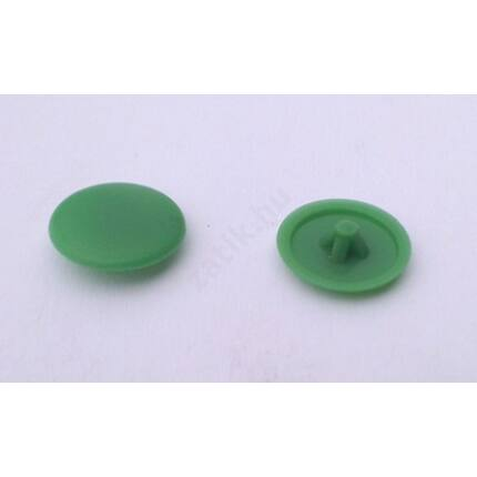 Csavartakaró gomb műanyag furattakaró zöld világos színű 10 db/ csomag