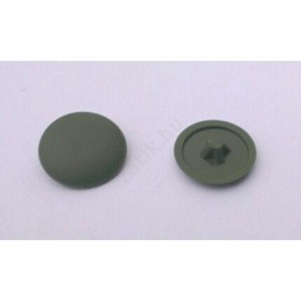 Csavartakaró gomb műanyag furattakaró zöld sötét színű 10 db/ csomag